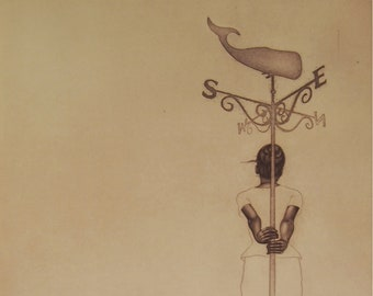 momento no. 9690 (muse) - original intaglio print by Carrie Lingscheit