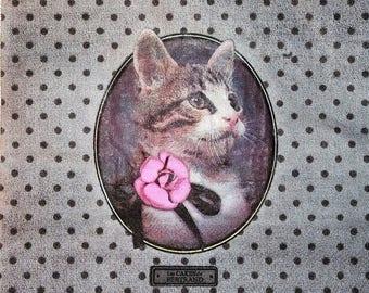 534 CAKES of BERTRAND - Cat CHARLIE pattern 4 X 1 paper towel