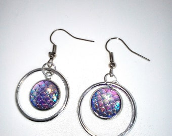 Earrings handmade cabochon