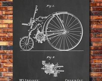Bicycle Patent Print Art 1890
