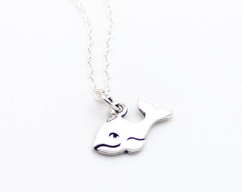 Happy whale .925 sterling silver necklace