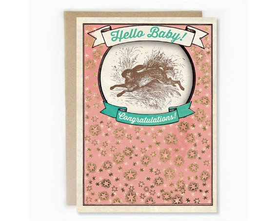 "NEW! ""Hello Baby!"" ""Congratulations"" Greeting Card"