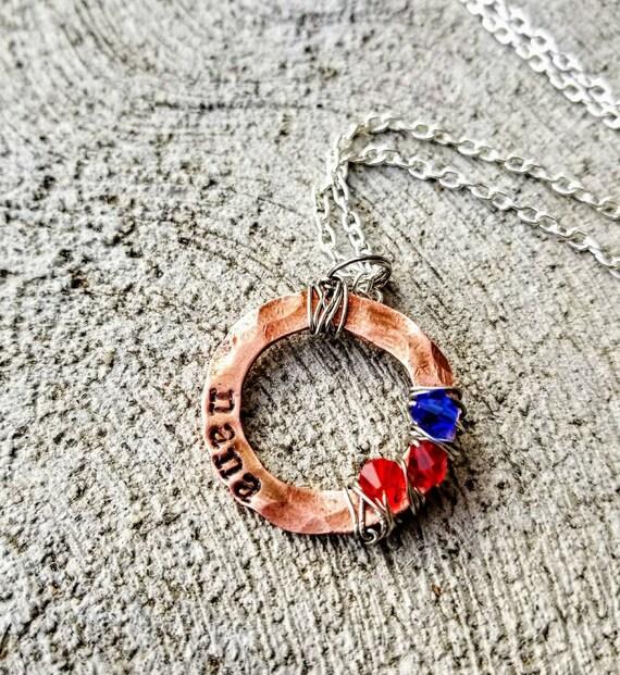 Nana's custom necklace. Grandchildren's birthstones