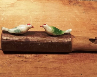 Vintage Wooden Bird Whistle Toy