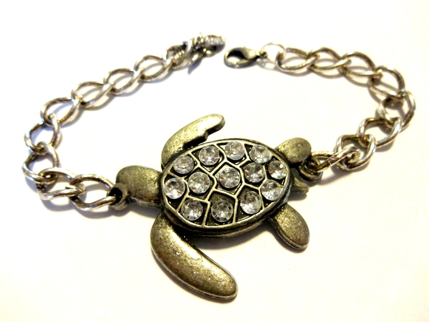 img product glass sea beachn turtle bracelet charm clear crackled