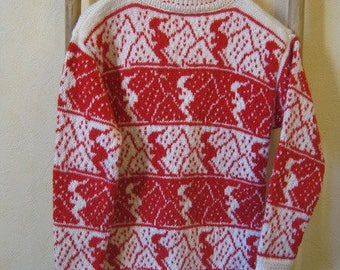 Jacquard ski sweater