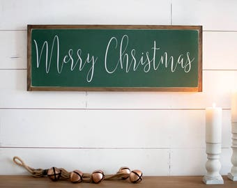 Merry Christmas Sign | Merry Christmas Sign Wood | Merry Christmas Sign Rustic | Farmhouse Christmas Decor | Unique Christmas Gift