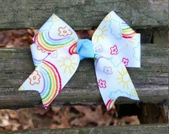 Rainbow  Hair Bow (3 inch)