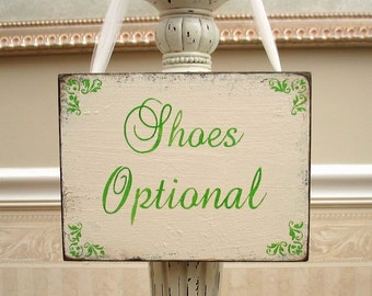 WEDDING Shoes Optional sign bridal beach shabby chic