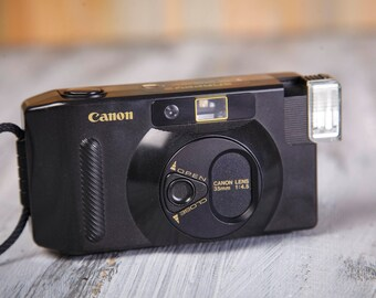 Vintage Film Camera Canon Snappy S. 35 mm Film Camera. Canon Camera. Point and Shot Camera.Lomography. Working Film Camera.
