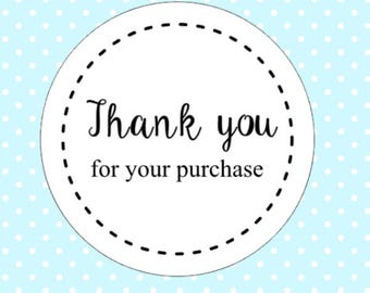 30 Thank You For Your Purchase Order Stickers Business Packaging Mailing Shipping Round Stickers