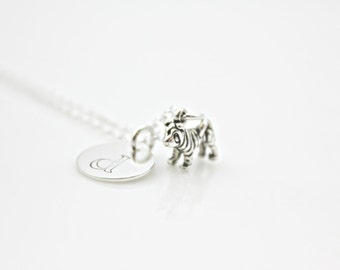 SHARPEI INITIAL NECKLACE in Sterling Silver *