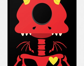 Cutest Demon 8x10 Art Print by Odds And Aliens