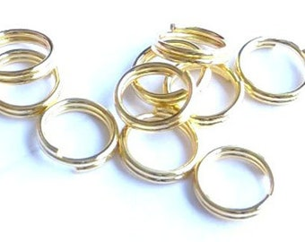 Ring 8mm gold-tone Double O