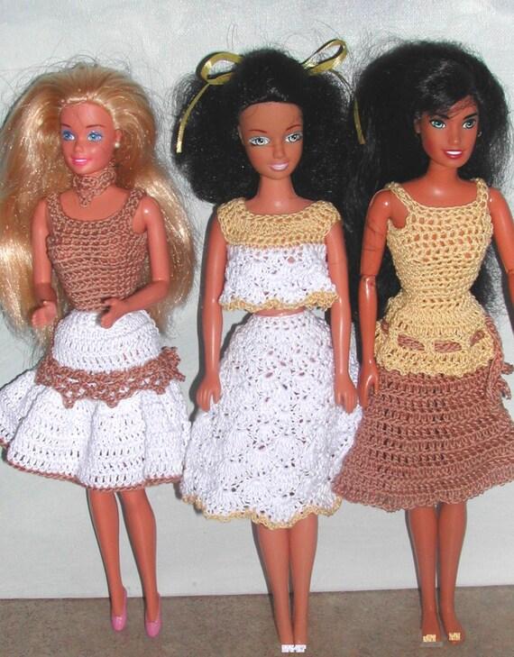 Häkeln Sie Mode Puppe Barbie Pattern 587 Sommer Kleider 2