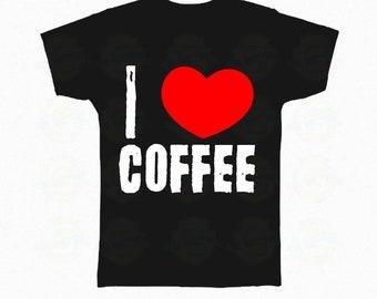 "Coffee T-shirt, Funny Coffee Shirt, Coffee Lover Shirt, Coffee Lover Tee, gift for coffee lover ""I love coffee"""
