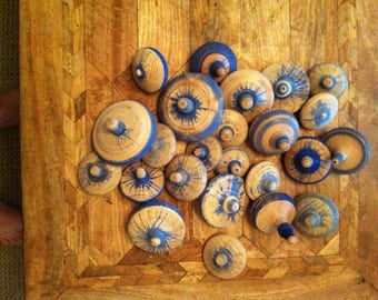 Blue Bottle spintops