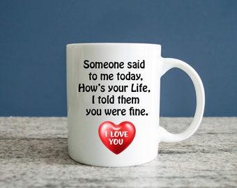 Lovers Mug, I Love You Mug, Gift for Husband, Gift For Wife, Gift for Girlfriend, Gift For Boyfriend, Lovers Gift Mug, Great Love gift, Mug