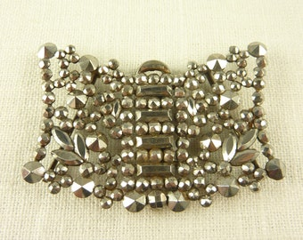 Antique French Cut Steel Two Part Buckle