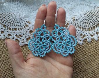 """tatting jewelry Jewellery Earrings """"Infinity"""" Chandelier Earrings Jewellery Earrings Tatting Lace Weddings tatted jewelry"""