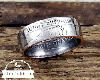 Coin Ring Mount Rushmore National Park Your Size MR0705-TNPMR
