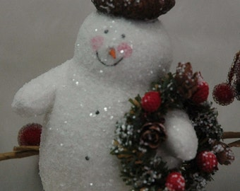 Folk Art Snowman with Acorn Cap (X-SS-ACORN)