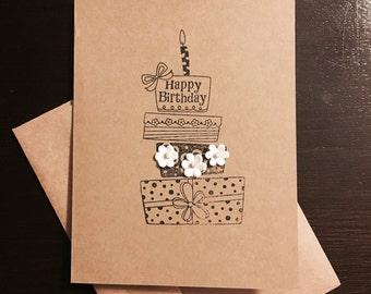 Happy birthday card , birthday, handmade