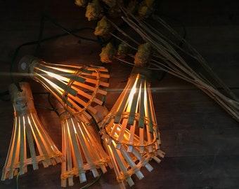 Vintage Bamboo Lights, Party, Tiki, Summer, Wedding, Retro, String Lights, 50s