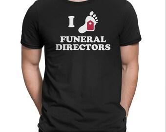 I Heart Funeral Directors Shirt Funny Toe Tag Mortician Tee