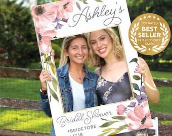 Wedding Photo Prop Frame - Bridal Shower Photo Prop - Tea Rose - Props - DIGITAL FILE - Creative Union Design - Print Option Available