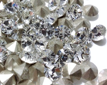 20 pcs Swarovski Rhinestones Pointed Back Chatons Crystal Clear SS20 or SS22 1028 xilion