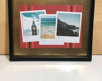 Travel photos framed
