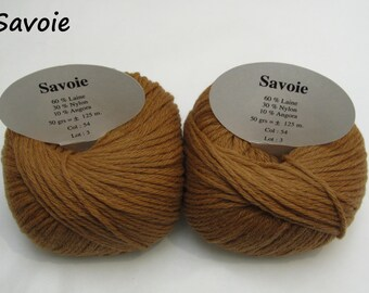 10 balls of wool and Angora alloy / brand / Tan