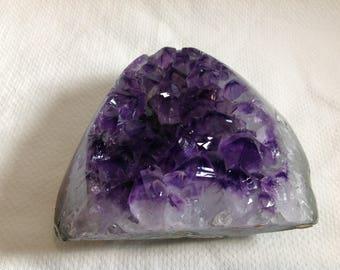 Dark purple Amethyst geode crust Brazil