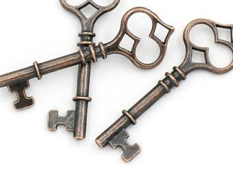 Bronze Tone Metal Skeleton Key // Scrapbooking // Craft Supplies
