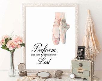 BALLET Art, Ballerina Art Print, Ballet Print, Dancer Print, Dancer Teacher Gift, Ballet Art, Girls Room Ballet, Dance recital gift, D100