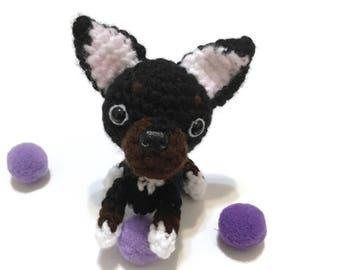 Chihuahua Plush Amigurumi Puppy Plush Crochet Puppy Amigurumi Chihuahua Stuffed Animal Stuffed Dog Toy Home Decor Birthday Gift for Her
