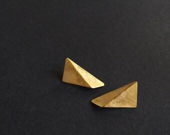18k Gold Plated Silver Earrings, Jewelry Set, Gold Earrings, Geometric Earrings, Triangle Earrings, Minimalist Earrings