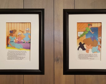Peter Pan and Wendy Darling Grouping Special Sale - 2 Page Set - Disney - Each Approximately 5 1/2 x 8