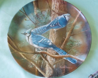 The Blue Jay Kevin Daniels Edwin Knowles Plate 1985 bird lover