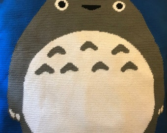 Queen Size Totoro Blanket PATTERN