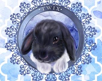 Custom digital pet portrait, pet Portrait, digital drawing, print, portrait from photo, personalized portrait, custom avatar