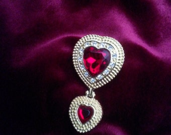 Victoria Secrets Heart Broach