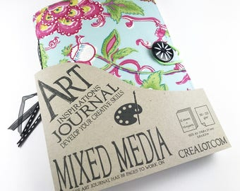 Blank Art Journal Mixed Media with inserts, size A5