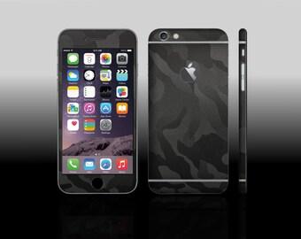 iPhone 6 Plus Black Shadow Camo Phone Skin Hyde Sticker