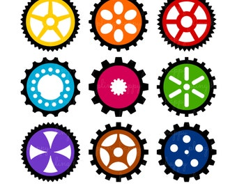 70% OFF Gears Clipart, Gears Clipart Graphics, Personal & Small Commercial Use, Instant Download