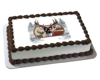 Hunting Cake Topper Hunting baby shower Deer cake topper