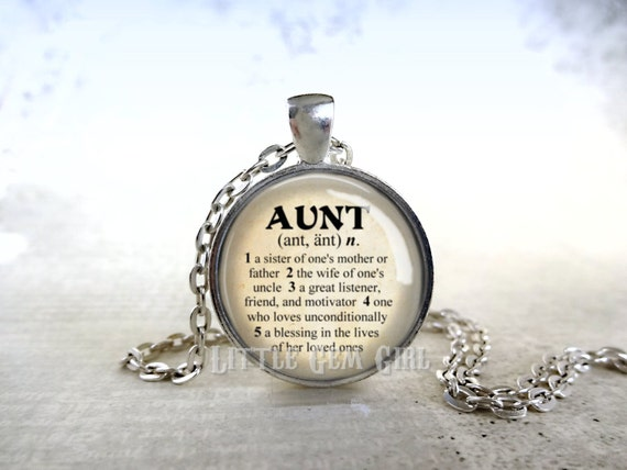 Aunt necklace for sister or mothers day dictionary definition like this item mozeypictures Gallery