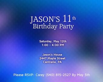 Birthday Invitation. Birthday Party - invitation Printable Personalized.
