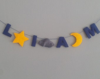 Night sky name banner gift